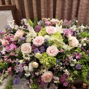Casket Flowers by- Flora Etc