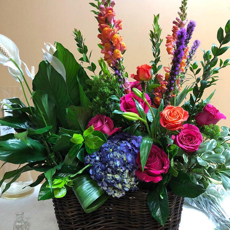 Plant & Fresh Floral Basket